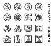 3d printing icon set vector and ...   Shutterstock .eps vector #1290541765