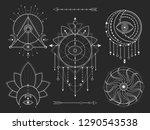 vector set of sacred geometric...   Shutterstock .eps vector #1290543538