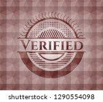 verified red geometric emblem.... | Shutterstock .eps vector #1290554098