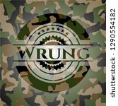 wrung on camouflaged texture | Shutterstock .eps vector #1290554182
