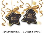 set of new year or christmas... | Shutterstock .eps vector #1290554998