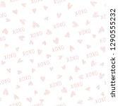 xoxo brush lettering signs... | Shutterstock .eps vector #1290555232