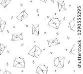 letter doodle seamless pattern. ... | Shutterstock .eps vector #1290555295