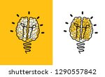 brain bulb icon lamps lamp idea ... | Shutterstock .eps vector #1290557842