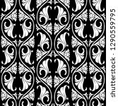 gothic floral seamless pattern. ... | Shutterstock .eps vector #1290559795