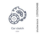 linear car clutch icon from car ...   Shutterstock .eps vector #1290560488