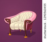 pink old chair | Shutterstock .eps vector #1290563455