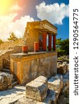 knossos palace at crete.... | Shutterstock . vector #1290564775
