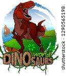 tyrannosaurus on the background ... | Shutterstock .eps vector #1290565198
