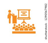 orange training  teaching  icon  | Shutterstock .eps vector #1290567982