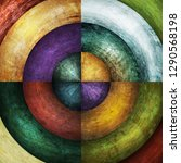abstract grunge circles... | Shutterstock . vector #1290568198