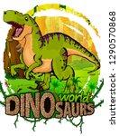 tyrannosaurus on the background ... | Shutterstock .eps vector #1290570868