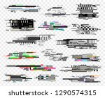 glitch elements realistic style ... | Shutterstock .eps vector #1290574315