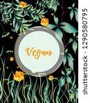 vector organic labels  bio...   Shutterstock .eps vector #1290580795