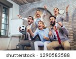 happy business people or...   Shutterstock . vector #1290583588