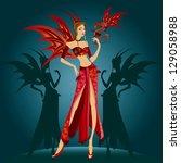 woman fashion sesign | Shutterstock .eps vector #129058988