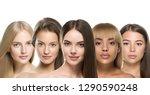 ethnic women different skin... | Shutterstock . vector #1290590248