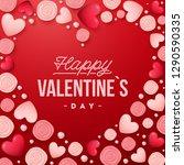 valentines day background .... | Shutterstock .eps vector #1290590335