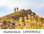 couple walking and hiking at... | Shutterstock . vector #1290590512