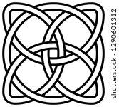celtic shamrock knot in a... | Shutterstock .eps vector #1290601312
