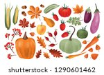 autumn harvest set. collection... | Shutterstock .eps vector #1290601462