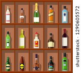 alcohol drinks collection.... | Shutterstock .eps vector #1290605572