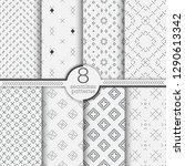set of seamless patterns.... | Shutterstock .eps vector #1290613342