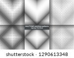 set of halftone seamless... | Shutterstock .eps vector #1290613348