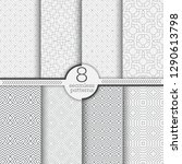 set of seamless patterns.... | Shutterstock .eps vector #1290613798
