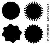 set of vector starburst ...   Shutterstock .eps vector #1290614395