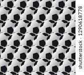 seamless pattern with soccer ... | Shutterstock .eps vector #1290618778