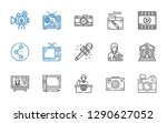 multimedia icons set....   Shutterstock .eps vector #1290627052
