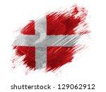 denmark. danish flag  painted... | Shutterstock . vector #129062912