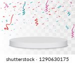 winner background. podium with... | Shutterstock .eps vector #1290630175