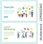 digital marketing and team job... | Shutterstock .eps vector #1290632362