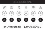 delicious icons set. collection ... | Shutterstock .eps vector #1290636412