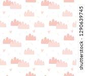 valentines day seamless pattern ... | Shutterstock .eps vector #1290639745