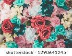 beautiful bouquet flower for... | Shutterstock . vector #1290641245