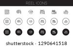 reel icons set. collection of...