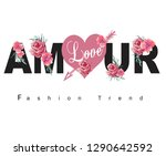 fashion trend for t shirt... | Shutterstock .eps vector #1290642592