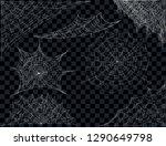 spider web set. cobweb... | Shutterstock .eps vector #1290649798