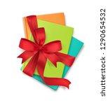 vector illustration  a stack of ... | Shutterstock .eps vector #1290654532