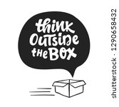 think outside the box concept.... | Shutterstock .eps vector #1290658432