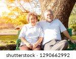 portrait older couple.... | Shutterstock . vector #1290662992