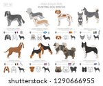 hunting dogs collection... | Shutterstock .eps vector #1290666955