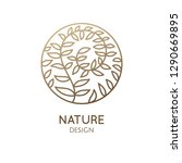 tropical plant logo. round... | Shutterstock .eps vector #1290669895