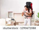 young male tourist preparing... | Shutterstock . vector #1290672088