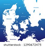 map of denmark  with german... | Shutterstock .eps vector #1290672475