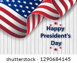 happy presidents day background ... | Shutterstock .eps vector #1290684145