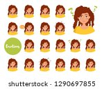 woman with different emotions.... | Shutterstock .eps vector #1290697855
